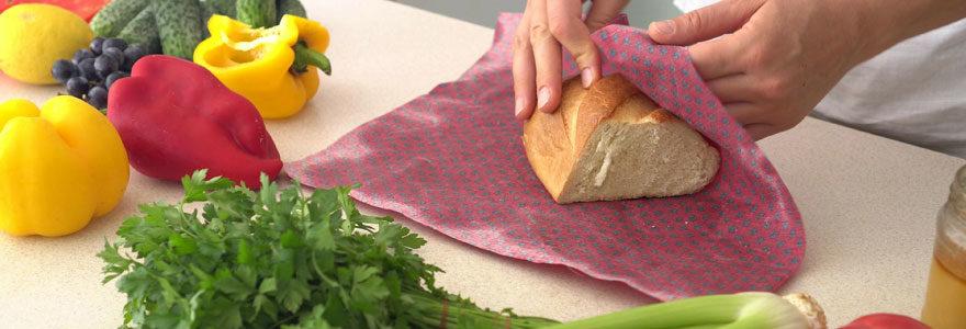 Emballage alimentaire en cire végétale